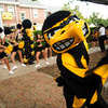 University of Iowa's Athletics mascot Herky the Hawk lacks motional depth