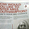 Headline of the week: 'How would you like to enter Miss Southampton?'