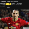 Manchester United's Zlatan Ibrahimovich beats Zorya Luhansk on his holiday