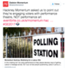 Dalston Momentum and Hackney Momentum's clarification is beyond parody