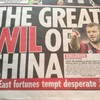 Transfer balls: Arsenal's Wilshere rides to China on a human caterpillar of fake news