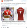 Arsenal Balls: Mesut Ozil kisses the badge but Welbeck get Sanchez's Number 7 shirt
