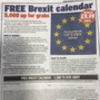 The Daily Express free Brexit calendar is beyond parody