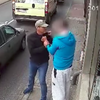 Instant karma for window-smashing hooligan (warning: graphic)