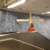 Jesus gets his cross stuck in the ceiling (video)