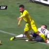 The greatest dive in football: Jean Meneses hits invisible force field