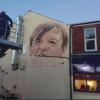 There's a huge mural to Mark E Smith outside a chip shop in Prestwich