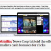 News Corp writers paid by the click; Guardian subs paid by the typo