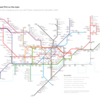 The cheapest pint in London as a Tube Map