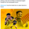 Transfer balls: Jadon Sancho to Liverpool or Manchester United says clickbait insider