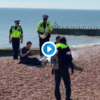 Brighton copper puts out coronavirus barbecue with helmet full of seawater