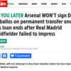 Transfer balls: Arsenal to sign Dani Ceballos
